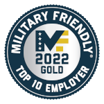 Military Friendly Top 10 Employer 2022.