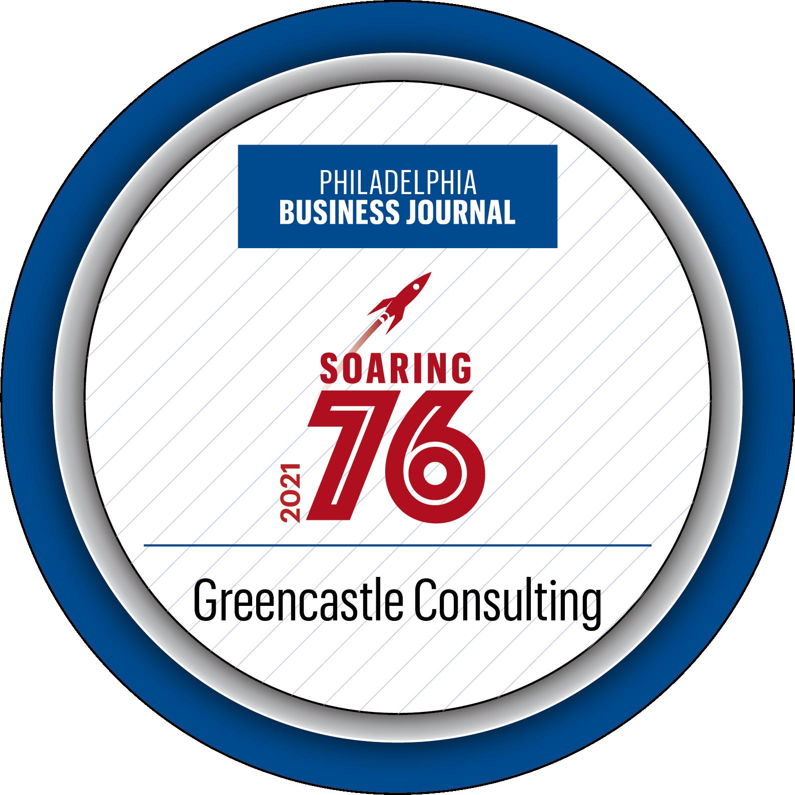 Philadelphia Business Journal 2021 Largest Consultants in the Philadelphia Region award.